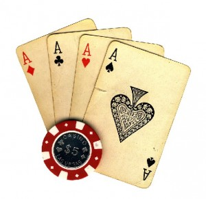 Old vintage cards and a gambli 01 300x291 Pokerlektioner.se